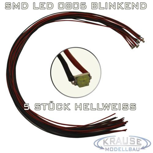 Km0160 5 pièces Smd Blink DEL 0805 hellweiss clignotant avec Décodeur Toron 0,05 mmâ²