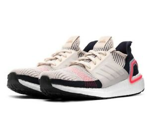 Adidas-Ultraboost-19-Clear-Brown-White-Chalk-Pink-B37705-Mens-Running-Shoes