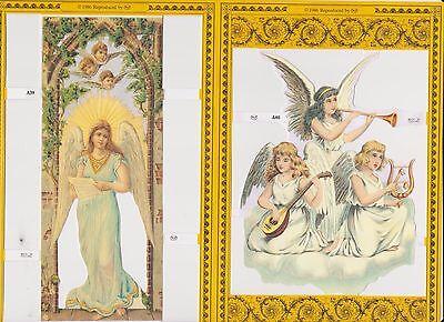 1 Doppelbogen Glanzbilder Weihnachten Engel MLP A39 und MLP A40