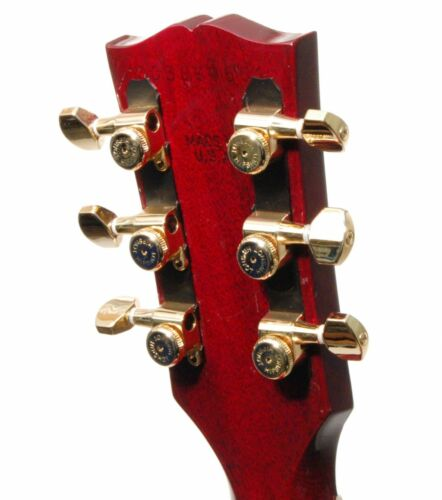 Hipshot GOLD 3+3 GripLock Closed-Gear Locking Guitar Machines 3x3 Tuners w// UMP