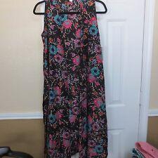 "LuLaRoe ""Joy"" Vest Duster - Black Multi-colored Floral - Size Small - NWT!!"