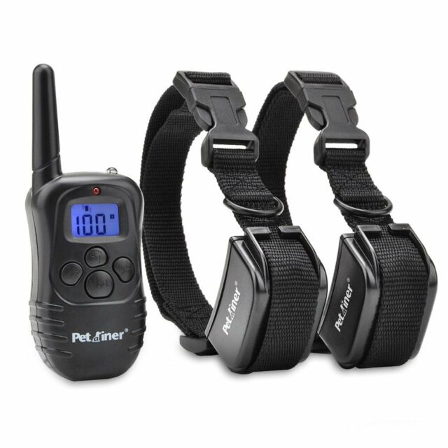 Petrainer Rechargeable Dog Training Shock E-Collar Behavior Corrector for 2 Dogs