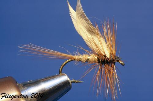 Fliegentom 3 Stück Trockenfliege March Brown