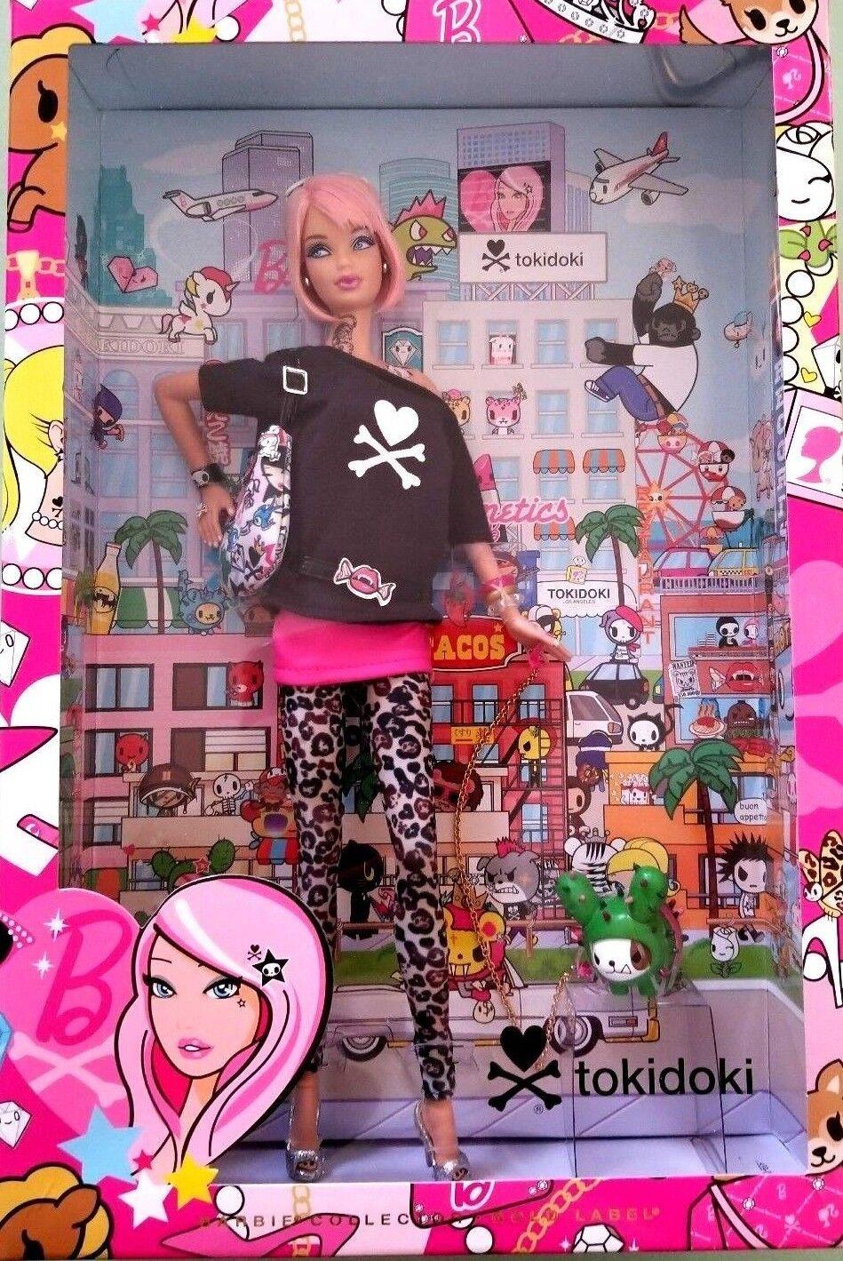 Tokidoki oro Label 2011 Barbie Collector Muñeca Raro Simone Legno Primera Edición Nuevo En Caja