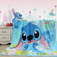 "Cute Cartoon  LILO STITCH Plush Soft Silky Flannel Blanket Throw Bedding 79""x59"""