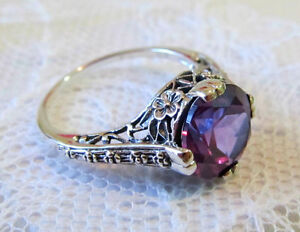 tension rings setting engagement meteorite products gibeon in alexandrite ring