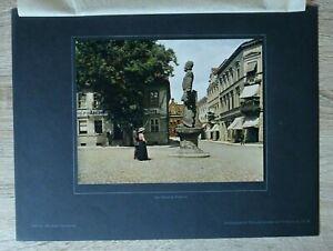 Brandenburg-1918-19-Perleberg-Ort-Strasse-Roland-Apotheke-Postamt-Haeuser-27x36cm