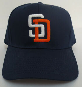 SAN DIEGO PADRES HAT CAP VINTAGE RETRO VTG MLB BASEBALL YOUTH STITCH ... a08e2d8c936