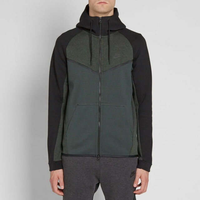 5c50973cf59d Nike Tech Fleece Windrunner -CHOOSE SIZE- 885904-372 Hoodie Black Heather  Jacket