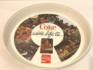 """Vintage 1970'S Coca Cola Thermo-Serv """"Coke Adds Life To.."""" Coke Serving Tray"""