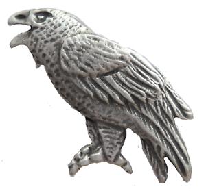 Tower of London Raven Pewter Pin Badge