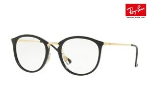 68202e93139 RAY-BAN Glasses Frames RB7140 (2000) Black Gold 49mm RRP-£150 ...