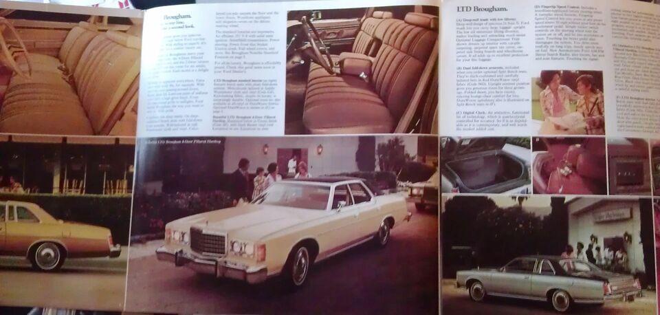 Brochure 1976 Ford LTD., Ford, emne: bil og motor