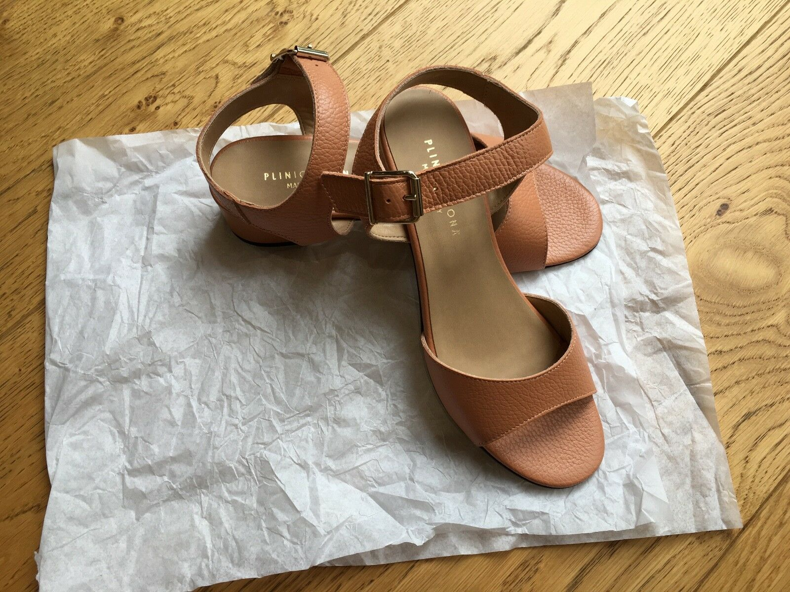 PLINIO VISONA Italian leather sandals size 37 (4 UK) -NEW
