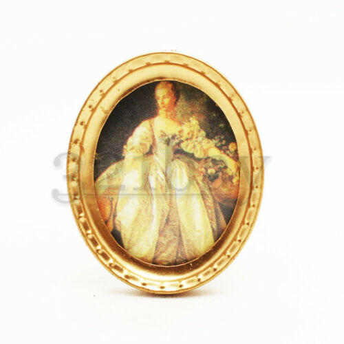 Miniature Painting /& Dollhouse Decoration 1:12 Scale Miniatures oval Wall Decor