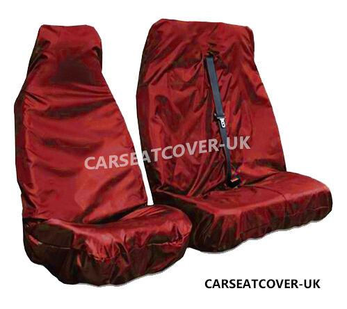 Vauxhall Movano Red HEAVY DUTY Waterproof VAN Seat COVERS 2+1 03-10