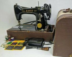 1930-039-s-Raico-FEATHERWEIGHT-SEWING-MACHINE-Working-Singer-Clone-Read-Description