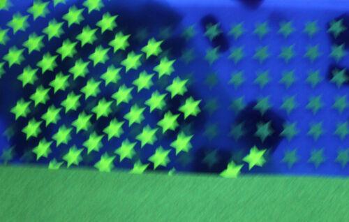 15 Etoiles Jaune-fluoThermocollantes Flex,Flock,Patch Applique Embelissement