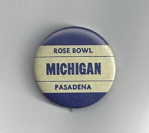 1951-Michigan-Wolverines-Rose-Bowl-button-vintage-original-pin-NCAA-football