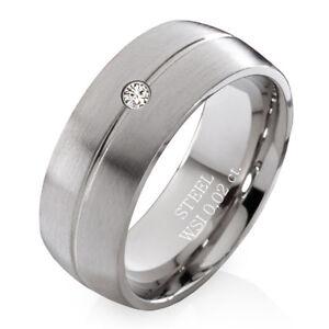 Verlobungsring Mit Echtem Diamant Damenring Aus Edelstahl Und Ring