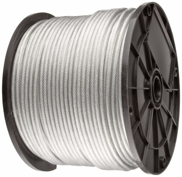 Black Vinyl Coated Wire Rope Cable,1//16-3//32 100 Ft Coil 7x7