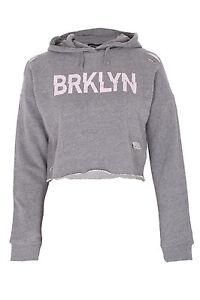 Girls-BRKLYN-Ripped-Crop-Hoodie-Kids-Hooded-Jacket-Sweatshirt-Pullover-Brooklyn