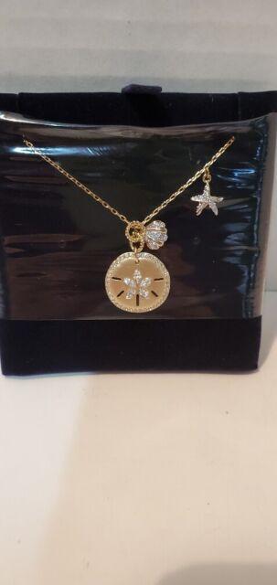 swarovski ocean sand coin necklace