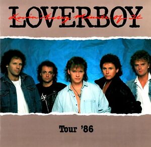 LOVERBOY 1986 LOVIN' EVERY MINUTE OF IT TOUR CONCERT PROGRAM BOOK / EX 2 NMT