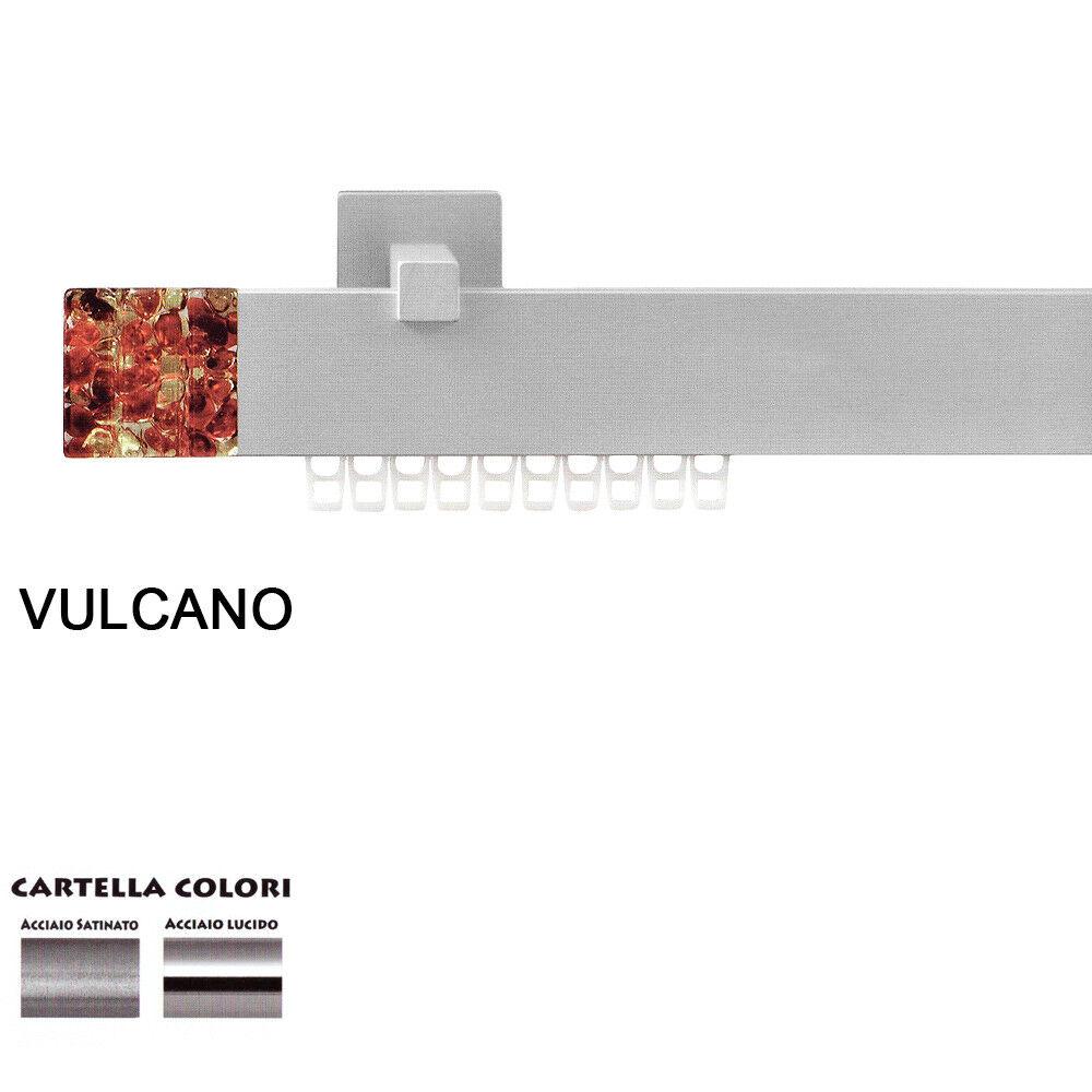 Scorritenda Corda Strappo Bastone Tenda Piatto in Alluminio Terminale Vulcano