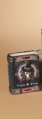 """2221370 5.8"""" Witchcraft Lighted Books Halloween Tablepiece Spells Curses Potions"""