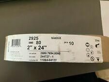 Sia Sialox 2925 2x24 Inch Belt Sanding Paper 10ea 80 Gritt