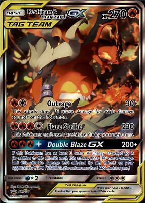 Reshiram /& Charizard GX SM201 Full Alternate Art JUMBO OVERSIZED Card IN STOCK