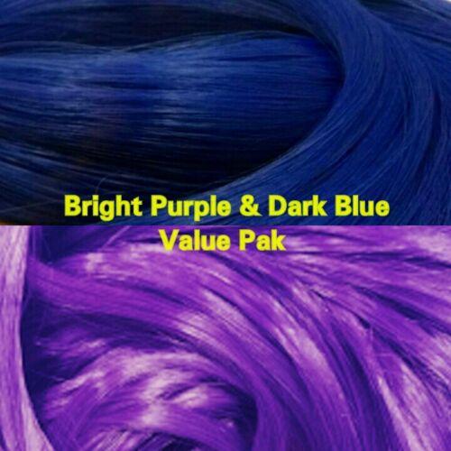 Purple /& Dark Blue XL 2 Color Value Pak Nylon Doll Hair Hanks reRooting Barbie