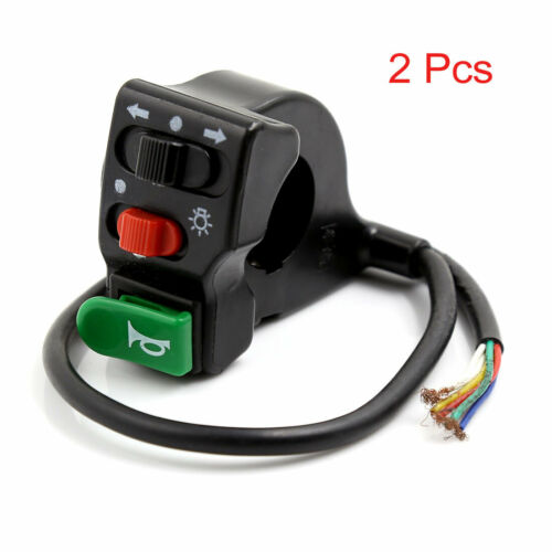 Details about  /Pair 33cm Cable Electric Bicycle Bike Lamp Direction Horn 3 in 1 Combined Switch