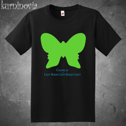New Coldplay LeftRightLeftRightLeft Men/'s Black T-Shirt Size S to 3XL