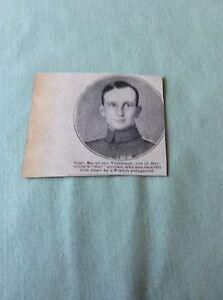 m49 ephemera 1918 picture ww1 capt baron von tutscheck airman - Leicester, United Kingdom - m49 ephemera 1918 picture ww1 capt baron von tutscheck airman - Leicester, United Kingdom