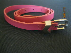 Genuine Leather Belt ~ Pink ~ Size Medium