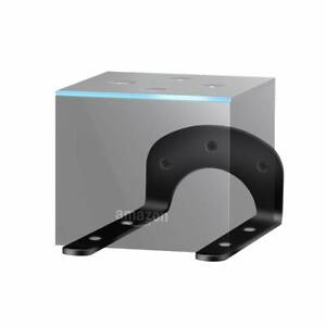 Black-Wall-Mount-Bracket-For-Amazon-Fire-TV-Cube-Streaming-Media-Player