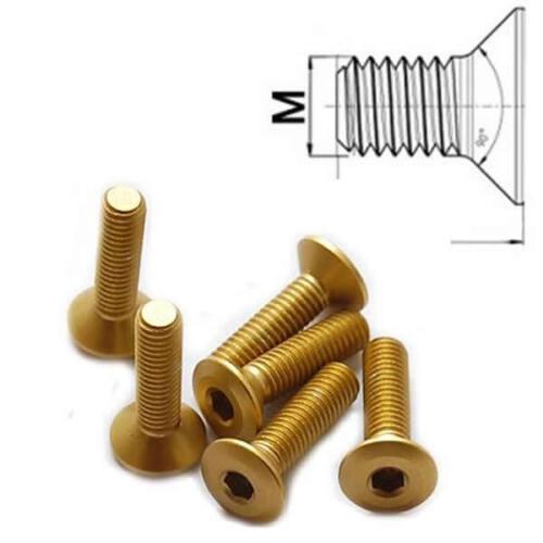 Aluminiumschraube M6 x 12 - 25 mm Senkkopf ähnlich DIN 7991 Al7075 Gold