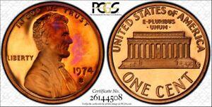 1974-S-1C-Lincoln-PCGS-PR66-DCAM-Monster-Tone-RicksCafeAmerican-com