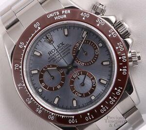 39446620d05 Rolex Daytona 116520 Cosmograph S Steel 40mm Watch-Ice Blue Dial ...