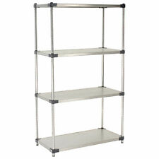 Nexel Stainless Steel Solid Shelving 36w X 18d X 74h