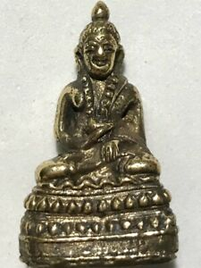 PHRA KRING LP RARE OLD THAI BUDDHA AMULET PENDANT MAGIC ANCIENT IDOL#30