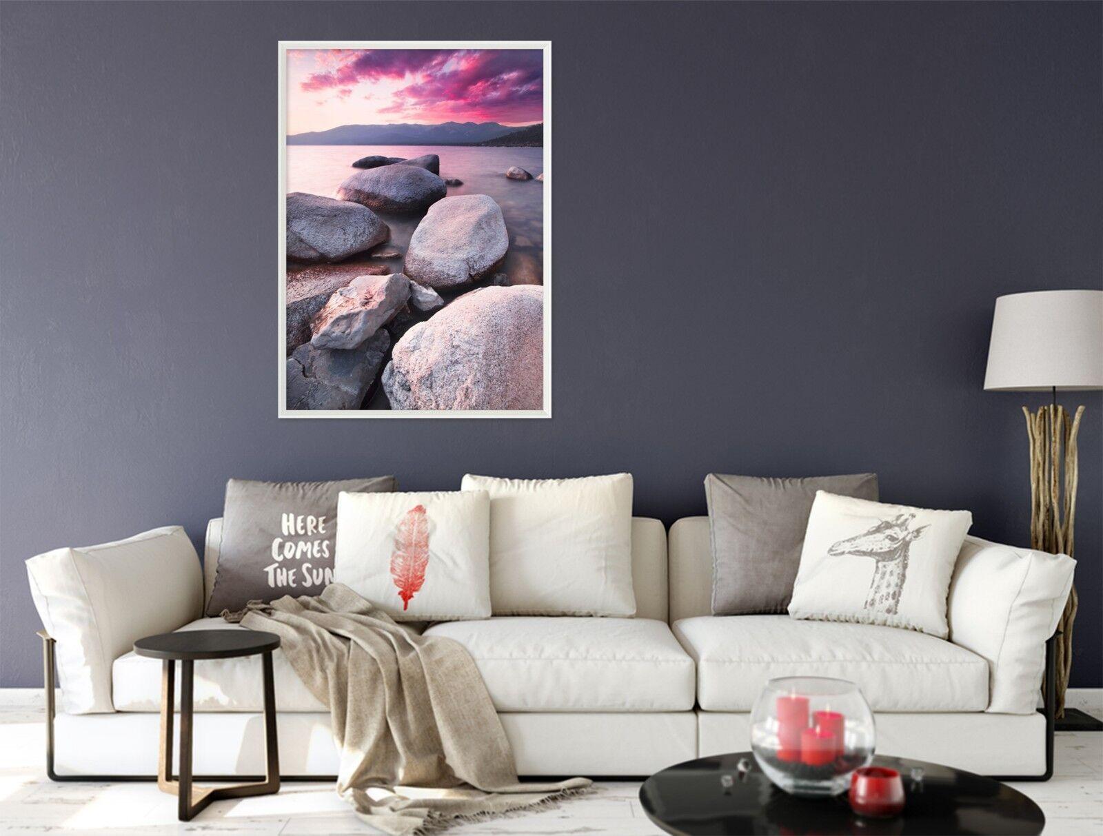 3d Twilight pietra spiaggia 3 incorniciato POSTER A CASA DECoro Stampa Pittura Arte AJ