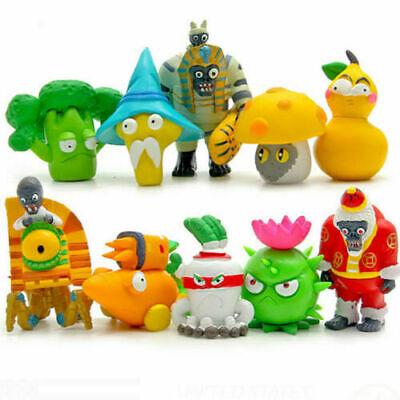 10 Plants vs Zombies Action Figures Kids Figurines Set Toy Cake Topper Car Decor