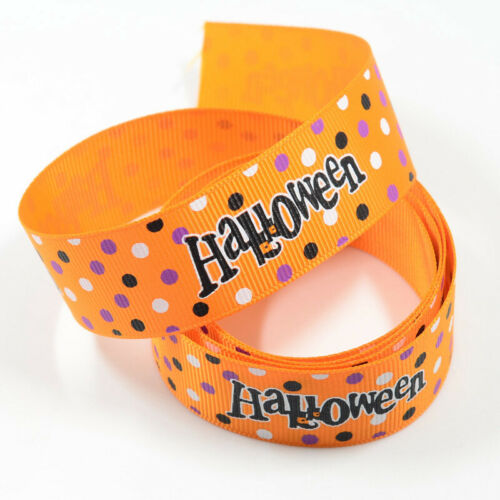 Halloween Grosgrain Ribbon Pumpkin Spider Cobwed Craft Party Gifts DIY Decor