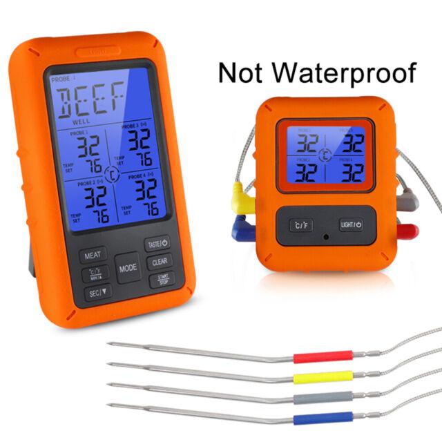 4key Term /¨ /® M/ètre LCD Num/érique de Cuisine Barbecue Nourriture Thermometer Digital Kitchen Black