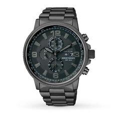 Citizen NightHawk EcoDrive Chronograph Black Ion-plated Mens Watch CA0295-58E