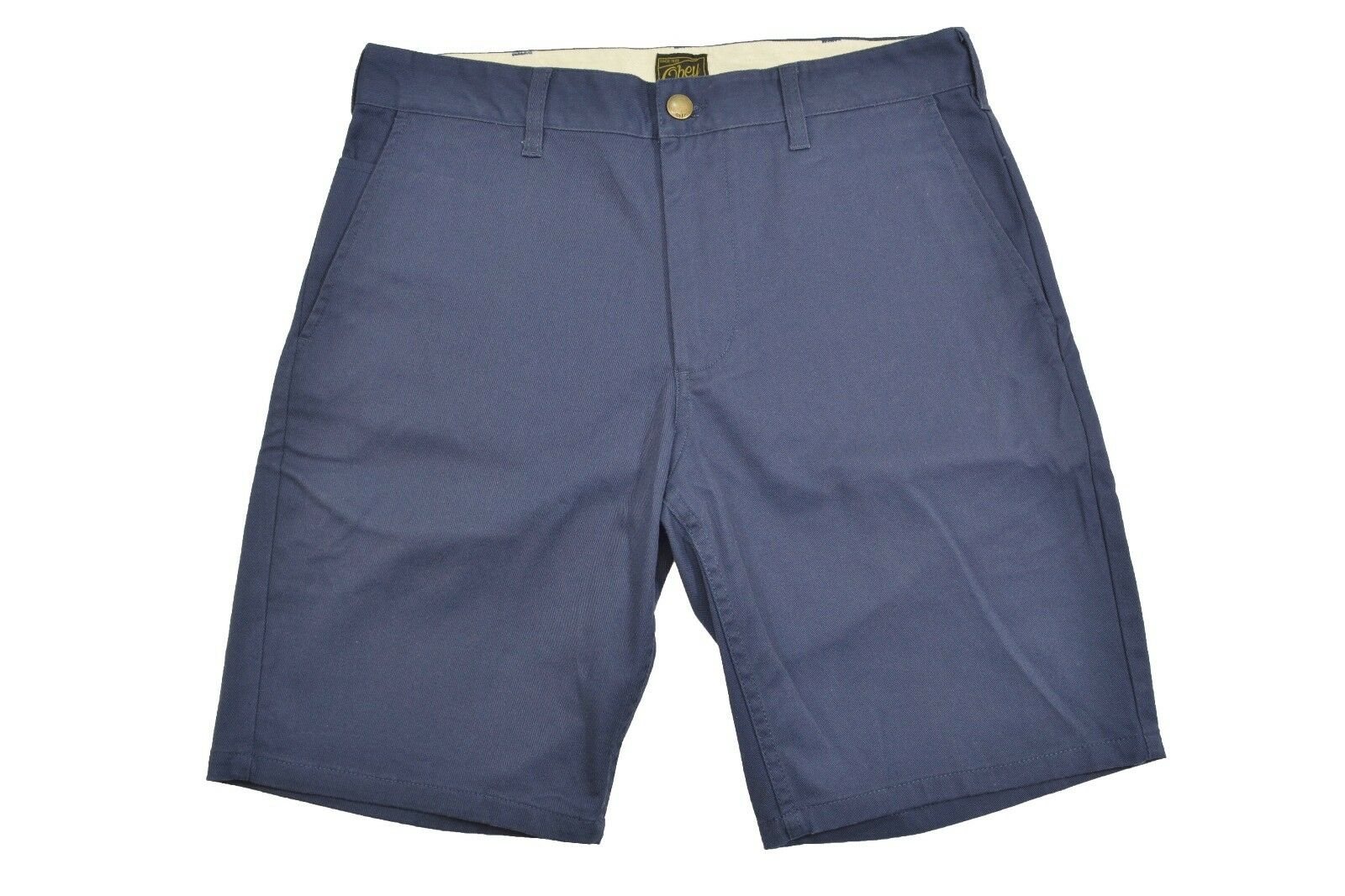 Obey GOOD TIMES Dusty Navy Casual Flat Front Men's Shorts