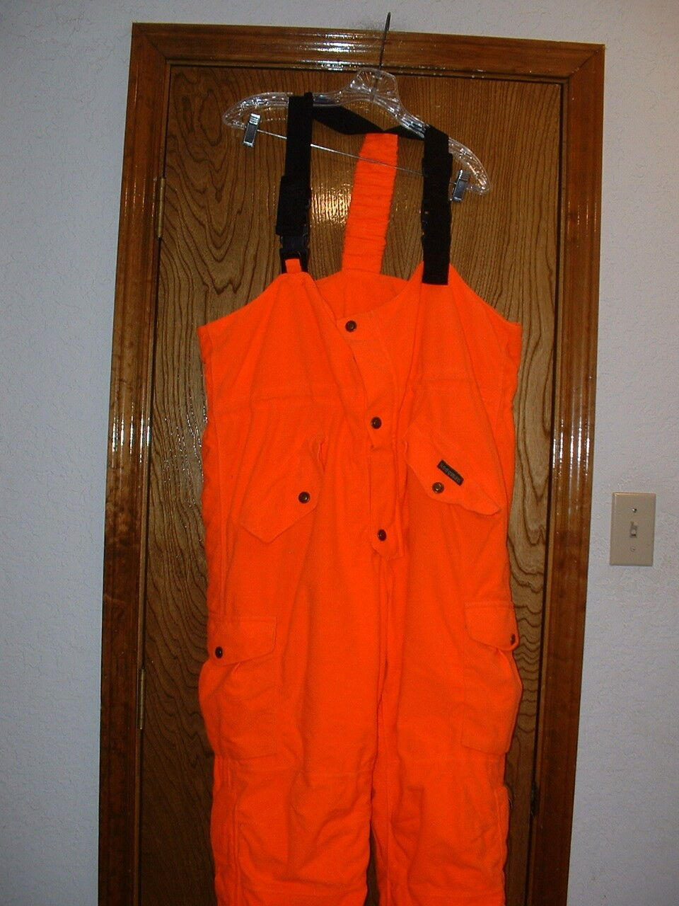 Para Hombres Pantalones Babero Hodgman aislado Blaze Naranja XL